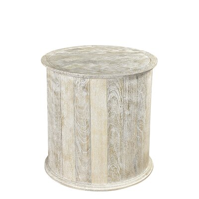 Caledonia End Table Color: Sandblast White