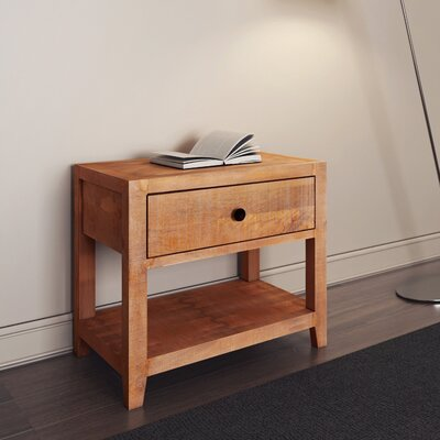 Palcon 1 Drawer Nightstand Finish: Natural