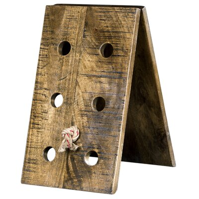 Celestina Wooden 6 Bottle Floor Wine Bottle Rack (Set of 4)