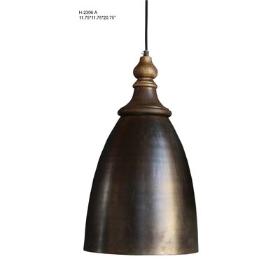 Midwest City 1-Light Mini Pendant Size: 24 H x 13.75 W x 13.75 D, Shade Color: Black