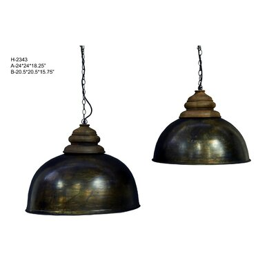 Pirro 1-Light Inverted Pendant Size: 15.75 H x 20.5 W x 20.5 D