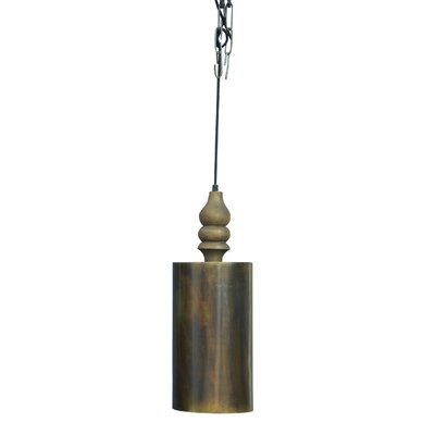 Chantelle Traditional Handmade Iron/Wooden 1-Light Mini Pendant