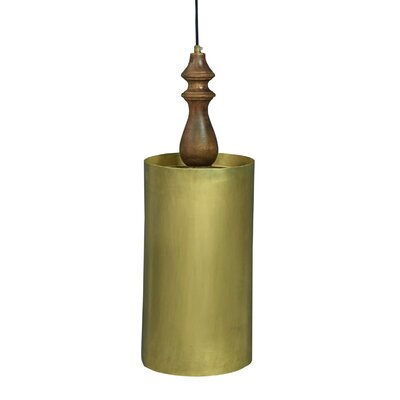 Chantelle Traditional Iron/Wooden 1-Light Mini Pendant