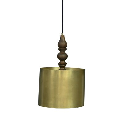 Pratunam Traditional Iron/Wooden 1-Light Mini Pendant