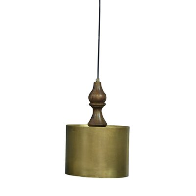 Pratunam Iron/Wooden 1-Light Mini Pendant