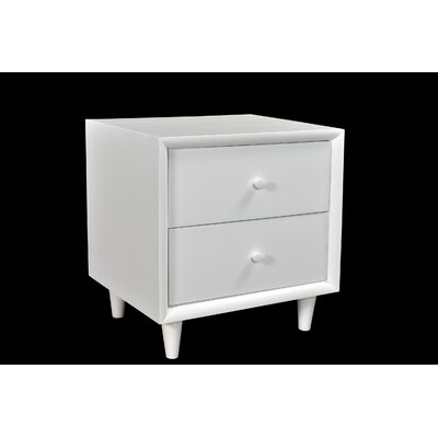 Rocco 2 Drawer Nightstand Finish: White