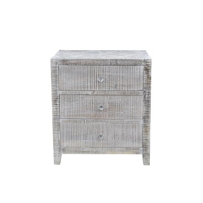 Palcon 3 Drawer Nightstand Color: White Wash