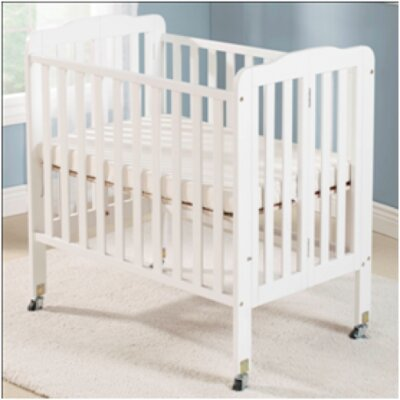 Big Oshi Angela 2 Position Portable Crib Finish: White CRB-408