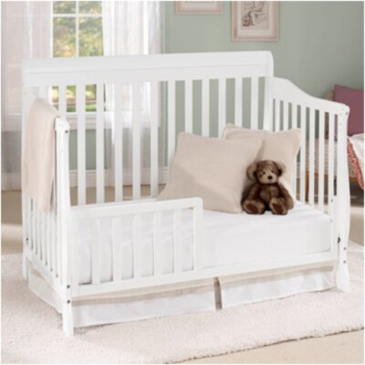Big Oshi Stephanie 4 in 1 Convertible Crib Finish: White CRB-416