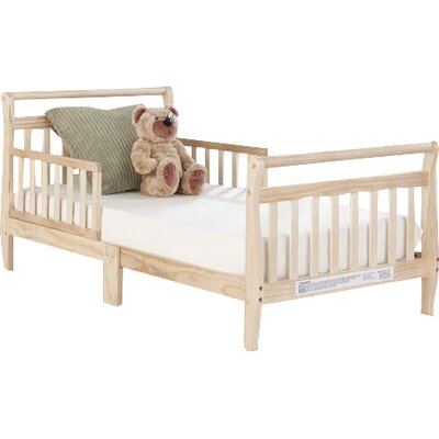 Big Oshi Convertible Toddler Bed Color: Natural