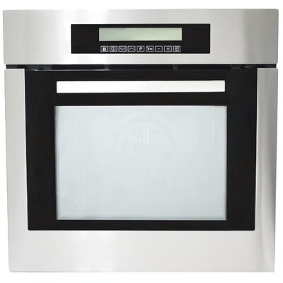 Kitchen-23.38 Self Cleaning Electric Single Wall Oven in Black