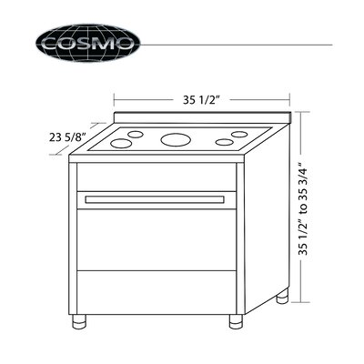 "Cosmo 36"" Free-standing Dual Fuel Range"