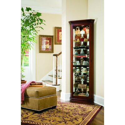Hollingdon Corner Curio Cabinet Finish: Victorian Cherry