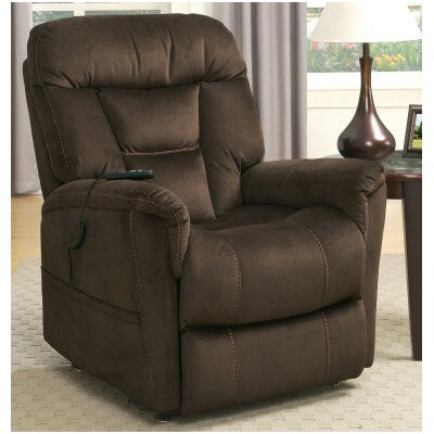 Medium Infinite Position Lift Chair with 2 Motors Color: Brown