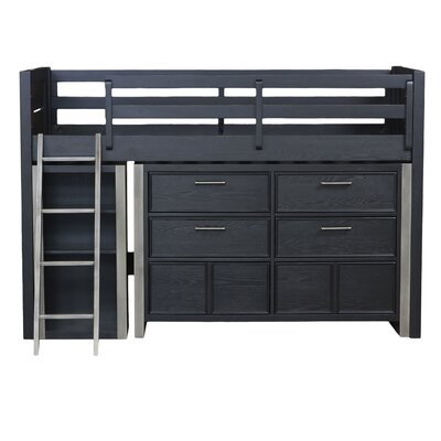 Graphite Mid Twin Loft Bed End