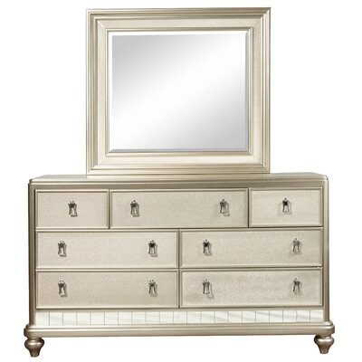Diva 7 Drawer Dresser with Mirror