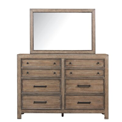 Coulonge 8 Drawer Double Dresser with Mirror