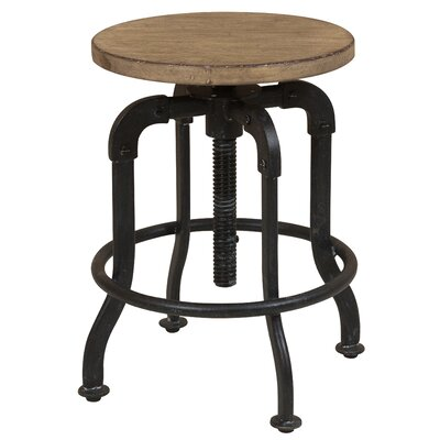 Fort Oglethorpe Adjustable Height Bar Stool