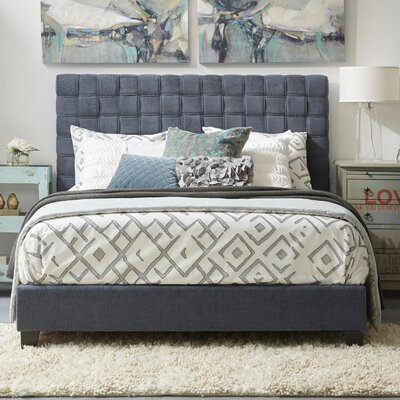 All-in-One Queen Upholstered Panel Bed