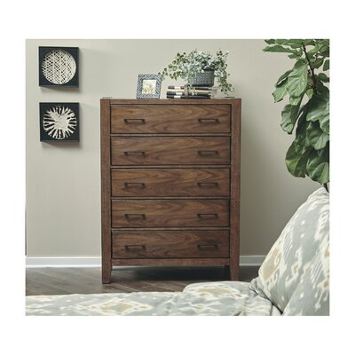 Russet 5 Drawer Chest