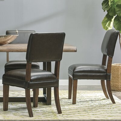 Russet Upholstered Solid Back Dining Chair
