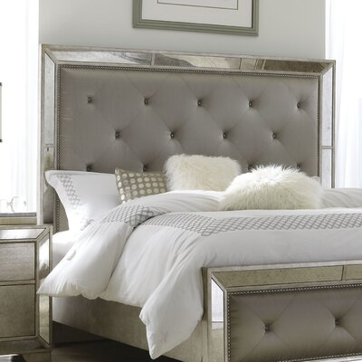 Halstead Upholstered Panel Headboard Size: Queen