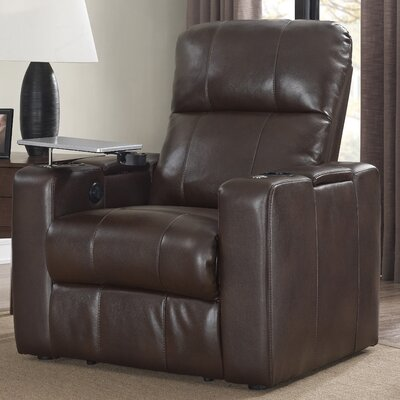 Staciee Power Wall Hugger Recliner Upholstery: Chocolate