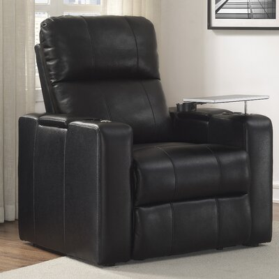 Staciee Power Wall Hugger Recliner Upholstrey: Black