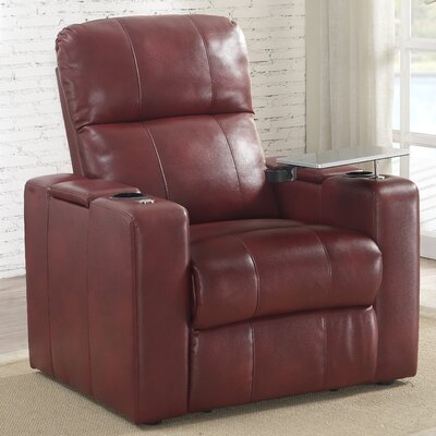 Staciee Power Wall Hugger Recliner Upholstery: Cardinal