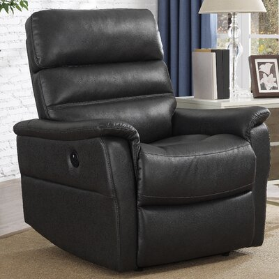 Ash Power Recliner Upholstery: Charcoal