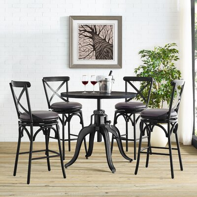 Hardev 5 Piece Pub Table Set