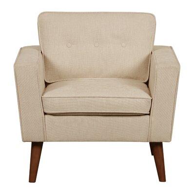 Vadnais Mid Century Modern Armchair Upholstery: Beige