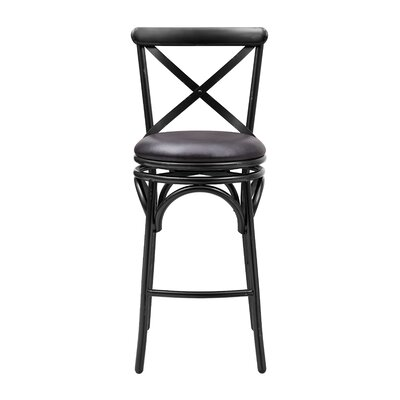 Hardev Swivel Bar Stool Color: Black