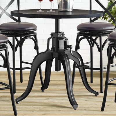 Hardev Industrial Crank Adjustable Pub Table