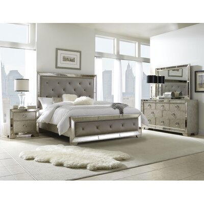 Halstead Upholstered Panel Bed Size: California King