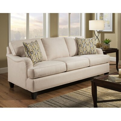 Elsinore Sofa Body Fabric: Hobnob Vanilla, Pillow Fabric: Exosure Denim