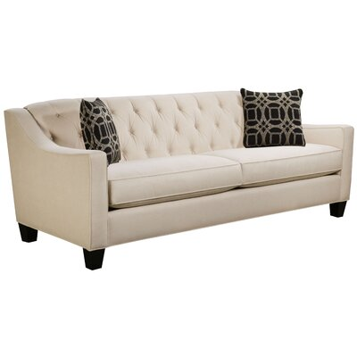 Ingersoll Sofa Body Fabric: Hobnob Vanilla, Pillow Fabric: Charlestown Marble