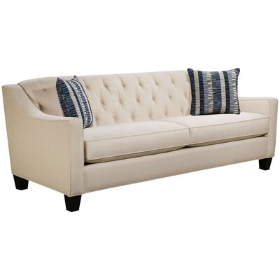 Ingersoll Sofa Body Fabric: Hobnob Vanilla, Pillow Fabric: Gekko Blue