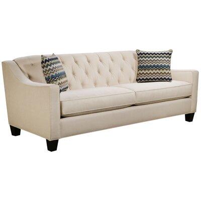 Ingersoll Sofa Body Fabric: Hobnob Vanilla, Pillow Fabric: Bolt Azure