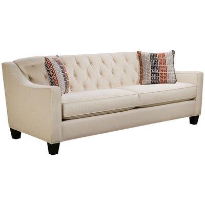 Ingersoll Sofa Body Fabric: Hobnob Vanilla, Pillow Fabric: Moana Persimmon