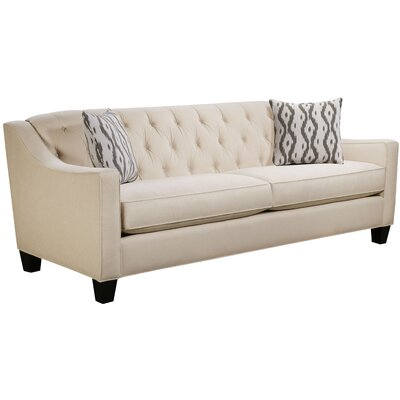 Ingersoll Sofa Body Fabric: Hobnob Vanilla, Pillow Fabric: Mod Ikat Gray