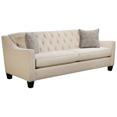 Ingersoll Sofa Body Fabric: Hobnob Vanilla, Pillow Fabric: Safari Stone