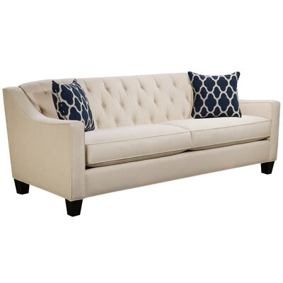 Ingersoll Sofa Body Fabric: Hobnob Vanilla, Pillow Fabric: Strathmore Oceanside