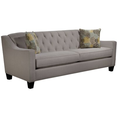 Ingersoll Sofa Body Fabric: Hobnob Platinum, Pillow Fabric: Blooms Collins