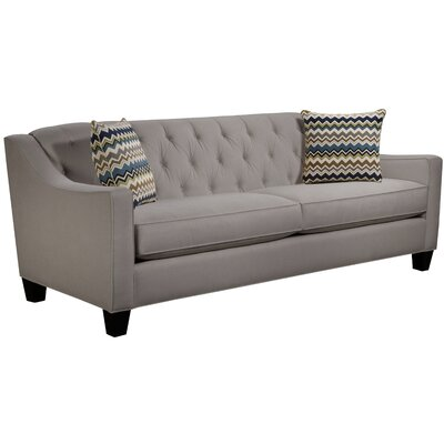 Ingersoll Sofa Body Fabric: Hobnob Platinum, Pillow Fabric: Bolt Azure