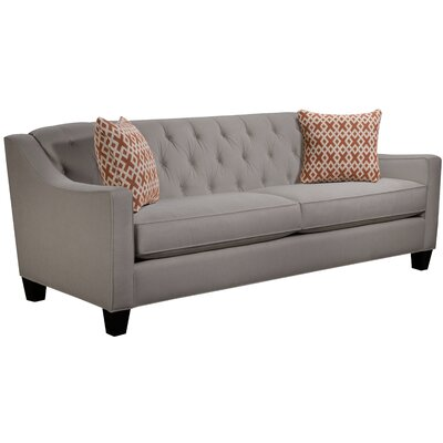 Ingersoll Sofa Body Fabric: Hobnob Platinum, Pillow Fabric: Essex Citrine