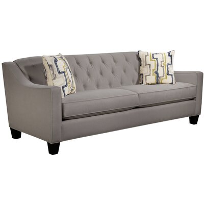 Ingersoll Sofa Body Fabric: Hobnob Platinum, Pillow Fabric: Exosure Denim