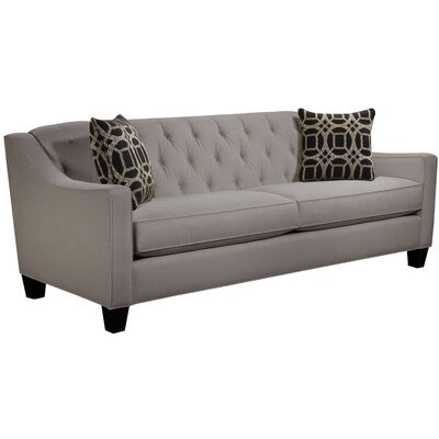 Ingersoll Sofa Body Fabric: Hobnob Platinum, Pillow Fabric: Charlestown Marble