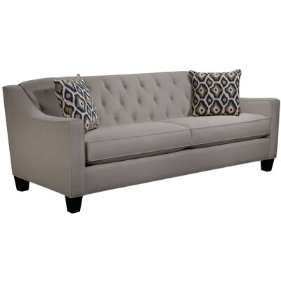 Ingersoll Sofa Body Fabric: Hobnob Platinum, Pillow Fabric: Adrian Indigo