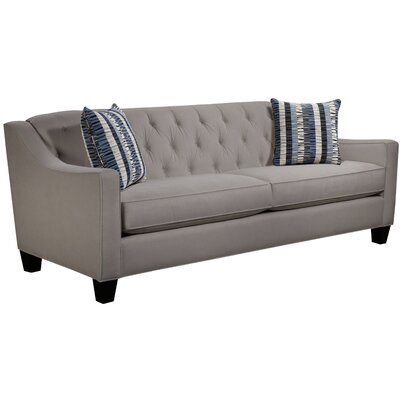 Ingersoll Sofa Body Fabric: Hobnob Platinum, Pillow Fabric: Gekko Blue